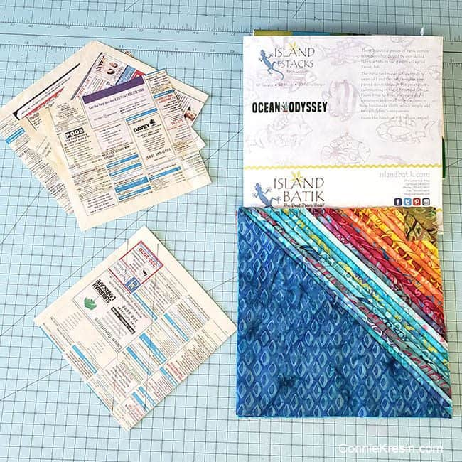 String Angles Table Runner made with Ocean Odyssey from Island Batik