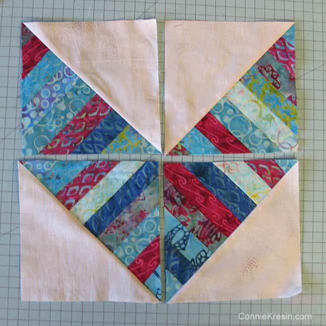 String Angles table runner blocks laid out