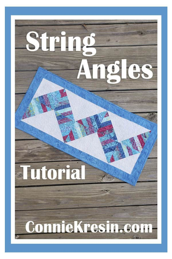Learn how to make this easy string angles tablerunner