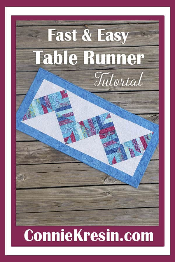 Fast and easy String Angles table runner tutorial