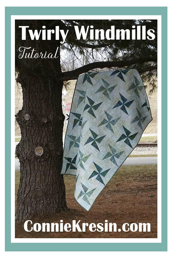 Free Quilt tutorial for the Twirly Windmills quilt
