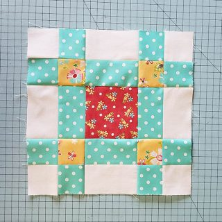 City Sidewalk quilt Block