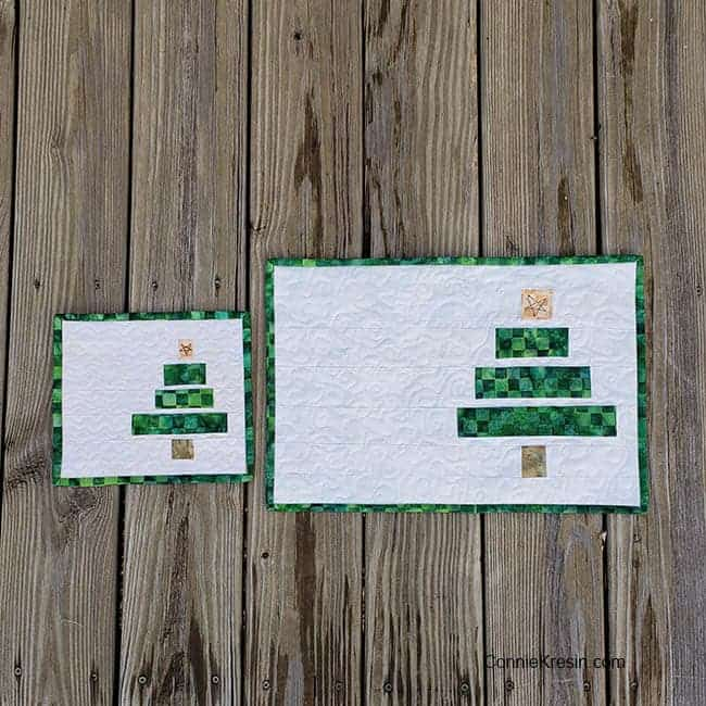 Wonky whimsical Christmas Tree Place mat