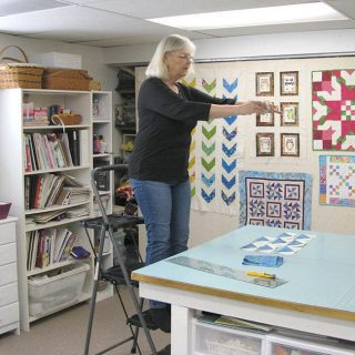 Must have for quilt photography stepladder with me on it taking photos