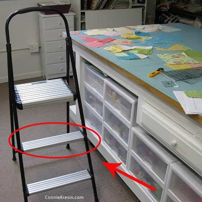 step ladder with very narrow steps
