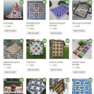 50 percent off all quilt patterns!