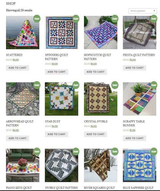 50 percent off all quilt patterns!