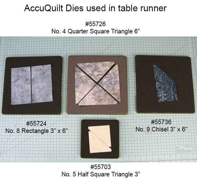 AccuQuilt GO! Qube dies used in table runner