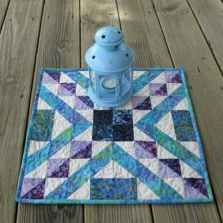 Affinity quilt block table topper