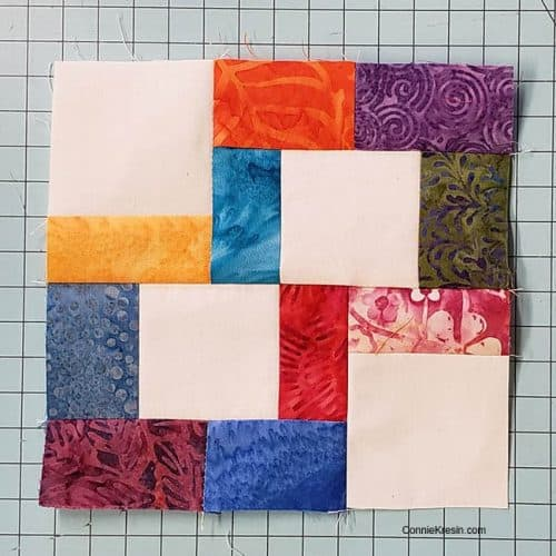 Finished crossroads quilt block