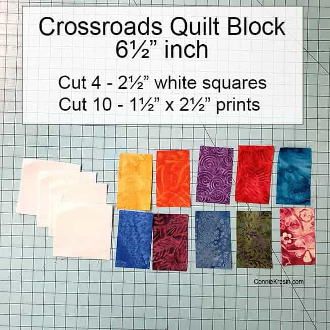 Crossroads quilt block tutorial is fast and easy to make choosing the fabrics