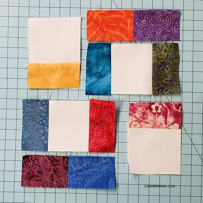Start Piecing the crossroad quilt block