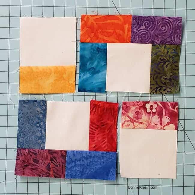 Start Piecing the crossroad quilt block