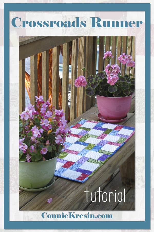 Crossroads quilted tablerunner tutorials