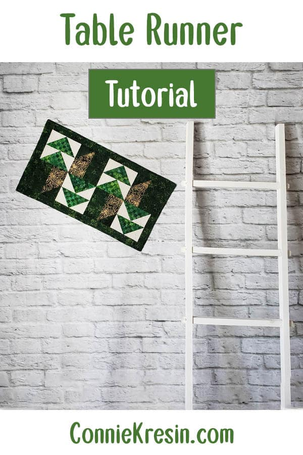 Winter Greens Christmas table runner tutorial