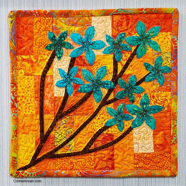 Forget me Not free quilt pattern