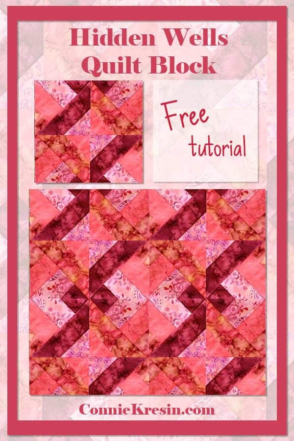 Hidden Wells Quilt Block Tutorial