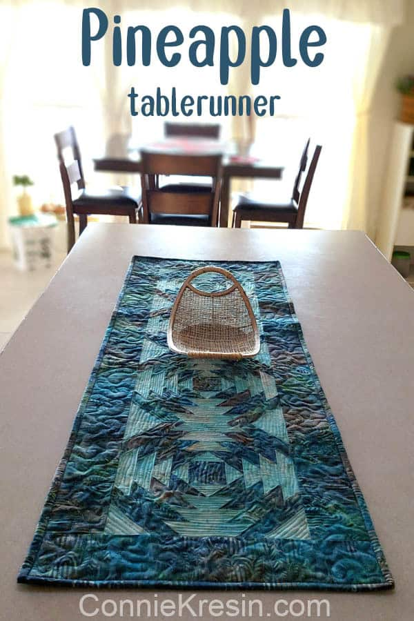 """AccuQuilt GO! 10"""" Pineapple die used to make table runner"""