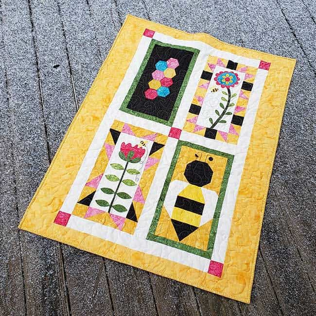 Save the Bees BOM quilt all finished