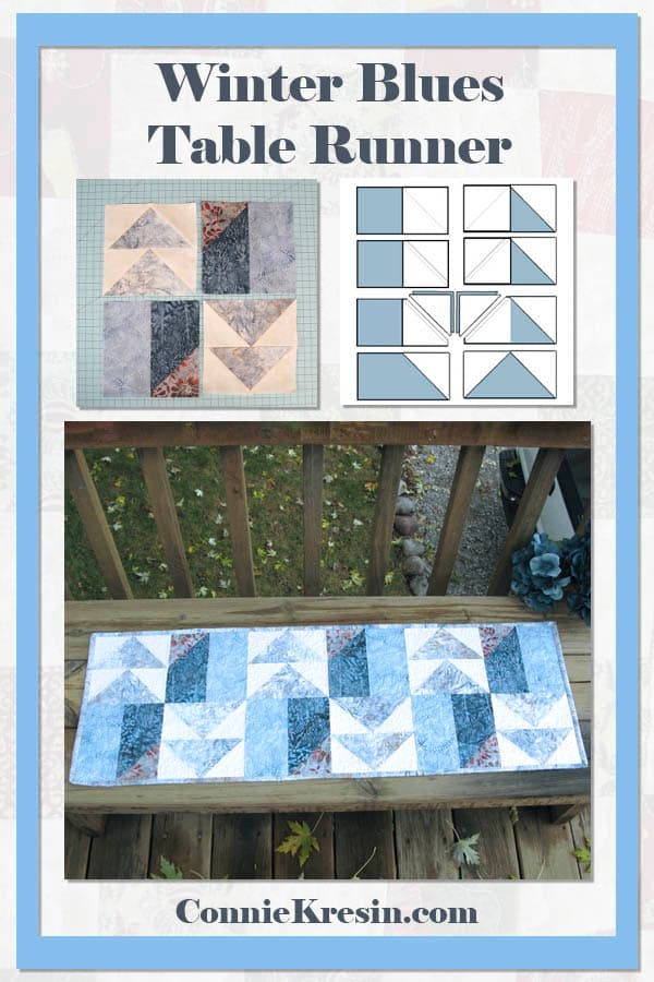 Winter Blues Tablerunner tutorial
