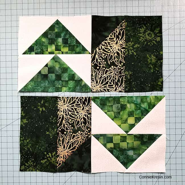Winter Greens Easy Christmas Table Runner Tutorial block