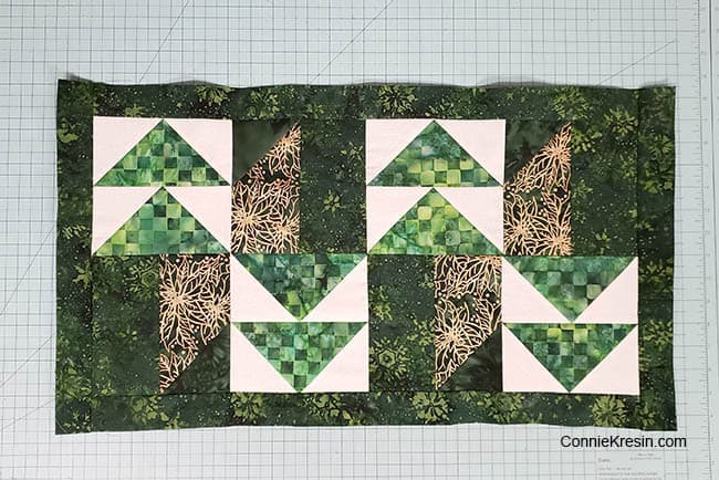 Winter Greens Easy Christmas Table Runner Tutorial adding border