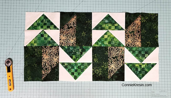 Winter Greens Easy Christmas Table Runner Tutorial sewn together