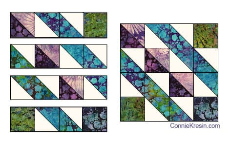 Affinity quilt pattern block 1