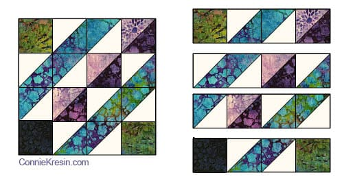 Affinity quilt pattern block 2