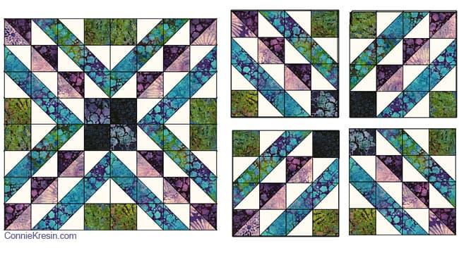 Affinity Quilt block tutorial diagram