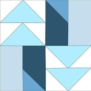 Winter Blue one block