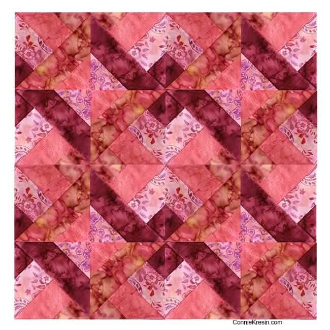 Quilt made with Hidden Wells block