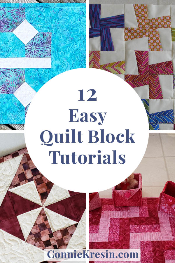 12 fast and easy quilt block tutorials