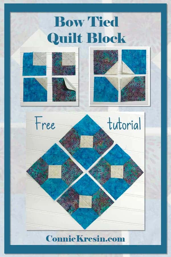 Follow the Bow Tied quilt block tutorial for fast and easy quilt blocks