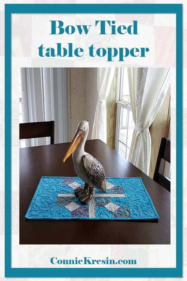 Bow Tied table topper tutorial with Pelican