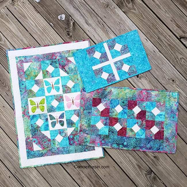 Quilt projects made using the Bow Tied quilt block
