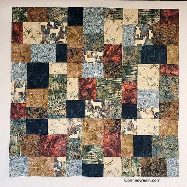 Elk Lodge batik fabrics for quilt blocks without orange batik