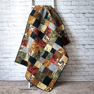 Quilt made with Elk Lodge batik fabrics