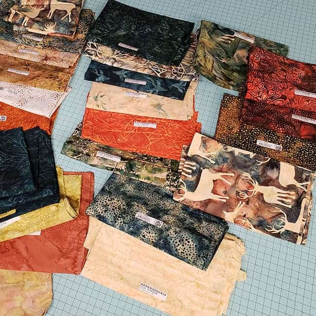 Elk Lodge batik fabrics