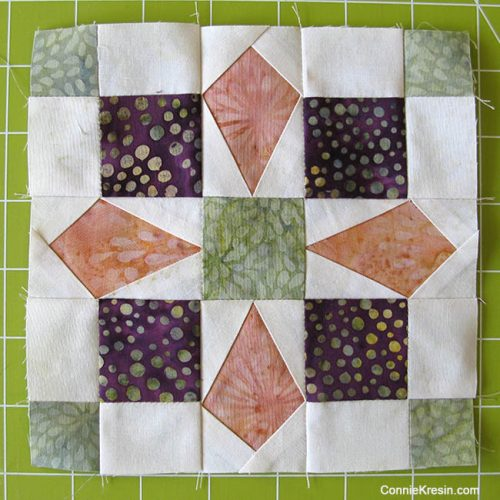 Mini Bird quilt block paper pieced