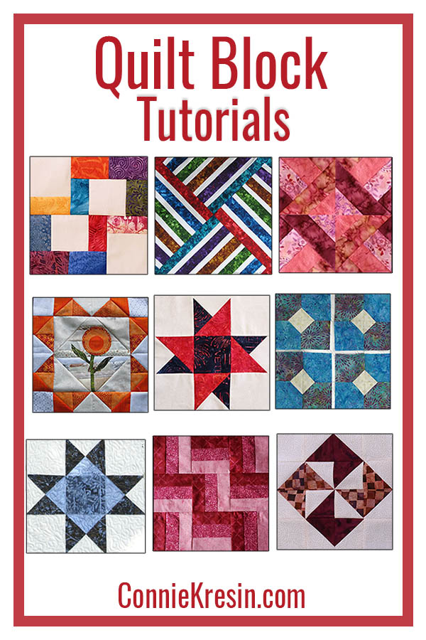 Quilt Block tutorials are free and fun to make some have quilt tutorials also