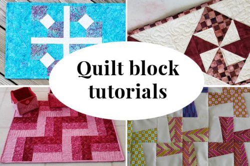 Easy quilt block tutorials