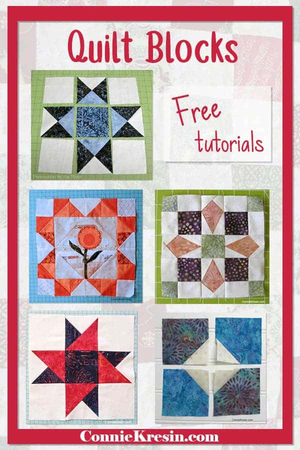 List of quilt block tutorials that you can find on my website