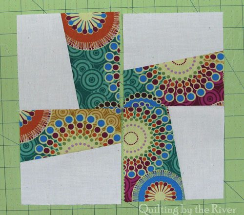 River Whirl quilt block