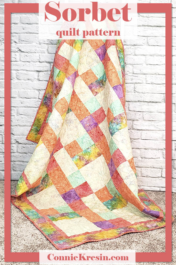 Beautiful Sorbet quilt is fast and easy to make