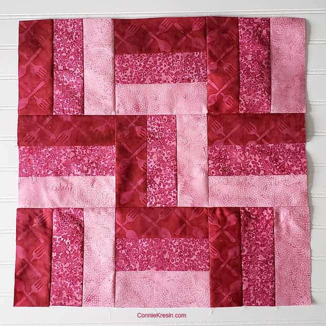 Three by Three 9 patch quilt block tutorial
