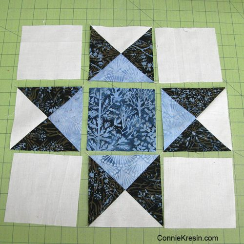 Espresso Ohio Star Quilt block