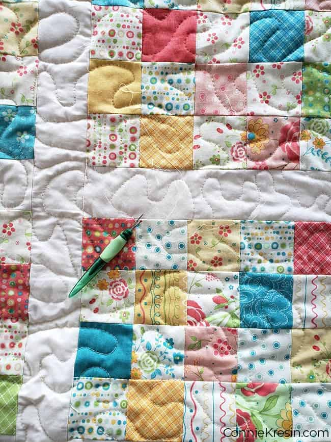 ripping out stitches on baby quilt