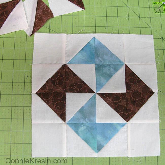 HST pinwheel quilt block