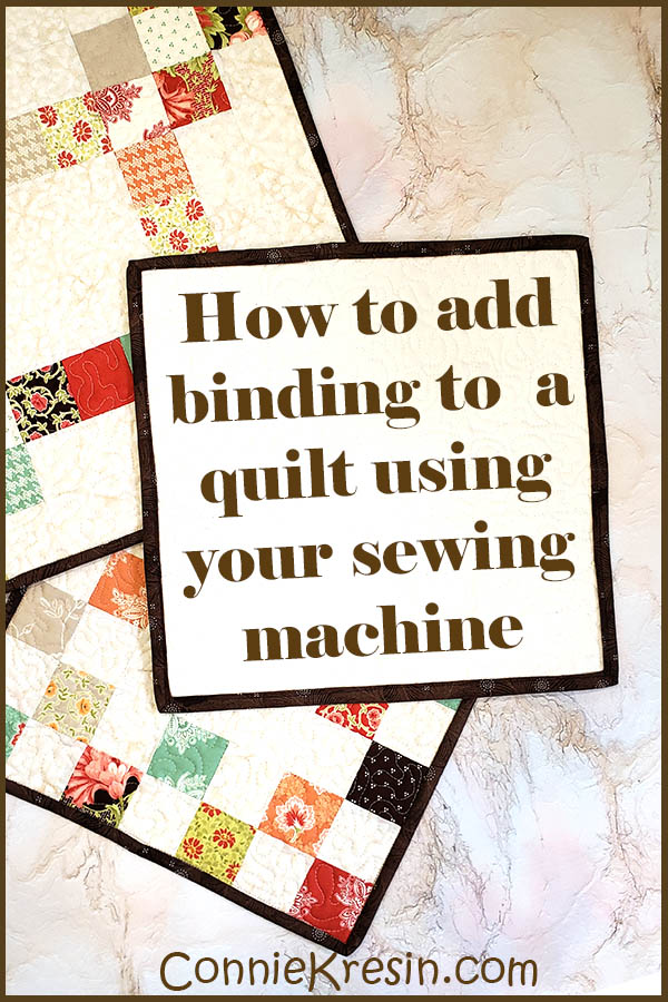 How to add binding to a quilt using your sewing machine